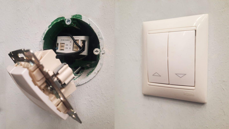 Модуль DA2-BTN с подключенным выключателем